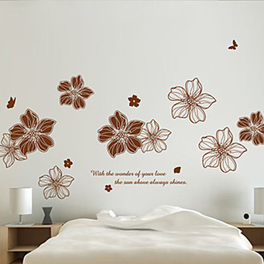 Naturaleza muerta Romance Botánico Pegatinas de pared Calcomanías de Aviones para Pared Calcomanías 3D para Pared Calcomanías Decorativas
