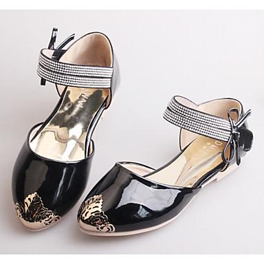 Para Meninas-Rasos-Light Up Shoes-Rasteiro-Preto Rosa claro-Microfibra-Casual