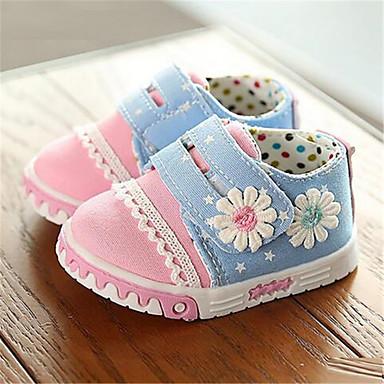 Sneakers-Kanvas-Komfort-Piger-Rosa-Fritid-Flad hæl