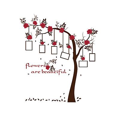 Mode Blomster Botanisk Vægklistermærker Fly vægklistermærker Dekorative Mur Klistermærker Foto klistermærker Hjem Dekoration