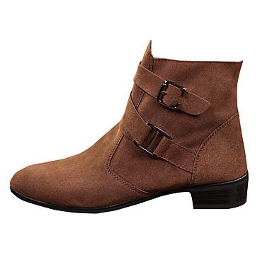 Masculino-Botas-Conforto-Rasteiro-Preto Marrom Cinza-Tecido-Casual