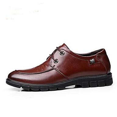 Masculino Sapatos Couro Primavera Verão Outono Oxfords Rasteiro Para Casual Preto Marron