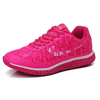 Feminino Sapatos Couro Ecológico Primavera Outono Conforto Tênis Rasteiro Cadarço Para Roxo Fúcsia Verde Azul