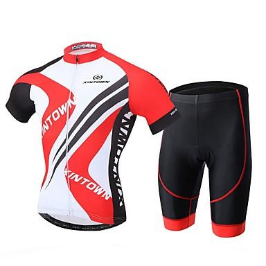 XINTOWN Camisa com Shorts para Ciclismo Homens Manga Curta Moto Camisa/Roupas Para Esporte Shorts Secagem Rápida Resistente Raios