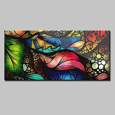 Hang-Painted Oliemaleri Hånd malede - Abstrakt Europæisk Stil Traditionel Lærred