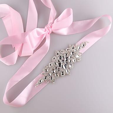 Satin-Hochzeitsfest / Abend-Tagesbekleidung Schärpen mit Strass-Kristall Perlen
