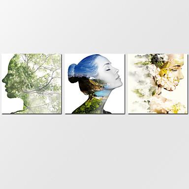 canvas Set Paisagens Abstratas Modern,3 Painéis Tela Horizontal Impressão artística wall Decor For Decoração para casa