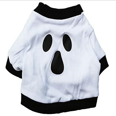 Hund T-shirt Hundetøj Afslappet/Hverdag Halloween Dødningehoveder Sort/Hvid