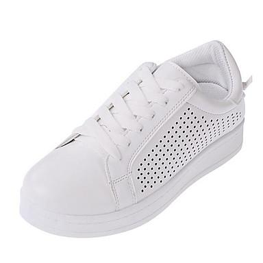 Sneakers-Kunstlæder-Komfort-Dame-Sort / Grøn / Hvid-Udendørs / Hverdag-Flad hæl