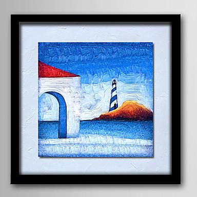 Handgeschilderde Abstract Fantasie Vierkant, Modern Kangas Hang-geschilderd olieverfschilderij Huisdecoratie Eén paneel