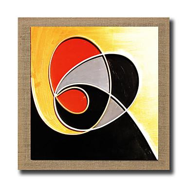 Handgeschilderde Abstract Stilleven Fantasie Abstracte landschappen Vierkant, Modern Realisme Kangas Hang-geschilderd olieverfschilderij