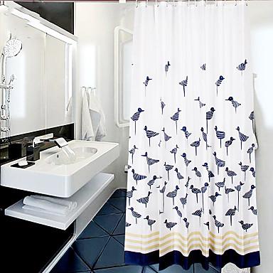 Duschvorhänge Modern Poly /  Baumwollmischung Tier Maschinell gefertigt