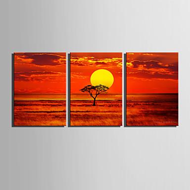 Paisagem Impressão em tela 3 Painéis Pronto para pendurar,Horizontal