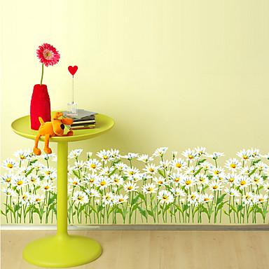 Floral Árboles y Hojas Art Decó Decoración hogareña Moderno Revestimiento de pared, PVC/Vinilo Material adhesiva requerida Frontera,