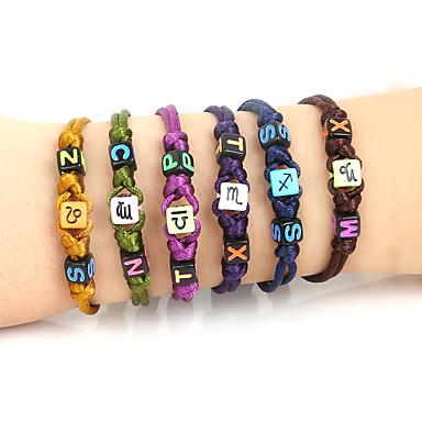 Heren Dames Strand Armbanden Inspirerend Verstelbaar Synthetische Edelstenen Acryl Vierkant Alfabetvorm Leeuw Dier Sieraden Dagelijks