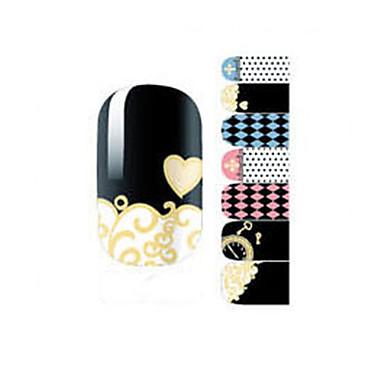 14Pcs/Sheet Nagelkunst sticker Cartoon Schattig make-up Cosmetische Nagelkunst ontwerp