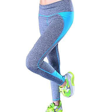 Yogabukser Tights Underdele Hurtigtørrende Åndbart Bekvem Komprimering Naturlig Høj Elasticitet Sportstøj Dame Yoga Pilates Klatring