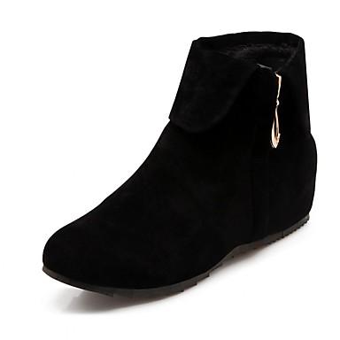 Mujer Zapatos Sintético Cuero Patentado Semicuero Invierno Primavera Innovador Tacones Paseo Tacón Plano Cremallera para Boda Casual jeNEYEFHF