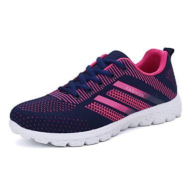 Herrer Sneakers Komfort Stof Forår Efterår Afslappet Løb Komfort Snøring Flad hæl Sort Grå Grøn Blå Lys pink Flad