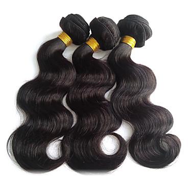 Peruviansk hår Krop Bølge Menneskehår Vævninger 3 Dele 0.3