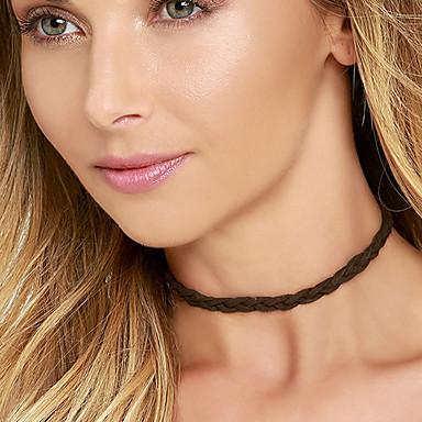 Dame Kort halskæde Tatovering Choker Blonde Tatovering Personaliseret Mode Hvid Sort Grå Smykker For Bryllup Fest Daglig Afslappet 1 Stk.