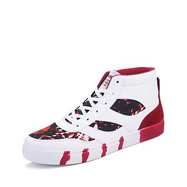 Sneakers-Mikrofiber-Komfort Modestøvler-Herre-Sort Blå Grøn Rød-Udendørs Fritid Sport-Flad hæl
