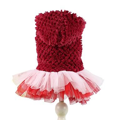Hond Hoodies Jurken Hondenkleding Effen Paars Rood Fleece Kostuum Voor huisdieren Dames Schattig Verjaardag Houd Warm
