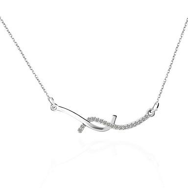 Damen Paar Übergang Halsketten / Ketten - Personalisiert, Punk, Simple Style Silber Modische Halsketten Schmuck Für Hochzeit, Party, Alltag, Normal
