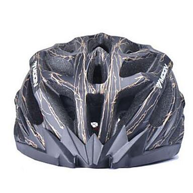 MOON Adulți biciclete Casca 27 Găuri de Ventilaţie CE Certificare Rezistent la Impact EPS, PC Ciclism stradal / Ciclism recreațional / Ciclism / Bicicletă - Negru / Galben / Rosu