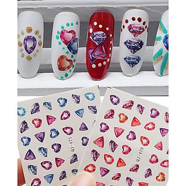 2pcs Engomada del arte del clavo Calcomanías de Uñas 3D maquillaje cosmético Nail Art