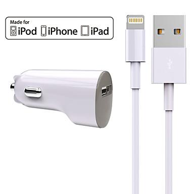 Cargador de Coche Cargador usb Universal Kit de Carga 1 Puerto USB 2.4 A DC 12V-24V para