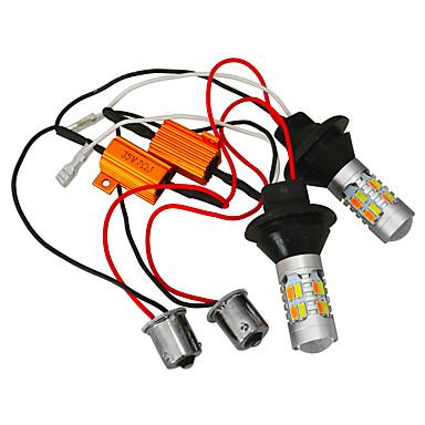JIAWEN 2pcs Coche Bombillas 25W SMD 5730 400lm LED Luz de Intermitente