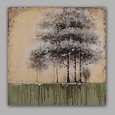 Handgeschilderde Abstract / Bloemenmotief/Botanisch Olie schilderijen,Modern / Klassiek Eén paneel CanvasHang-geschilderd