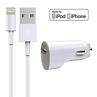 Bil Lader Telefon USB-lader Universal Lader Kitt 1 USB-port 1A DC 12V-24V Til iPhone