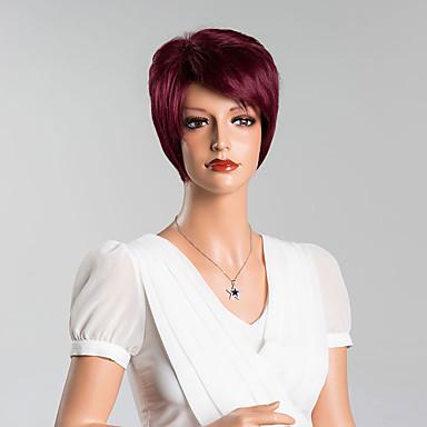 nieuwste trend korte rechte stuk capless pruiken maakt je meer verbazingwekkend hoge kwaliteit menselijk haar gemengde kleur