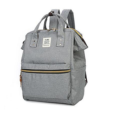 povoljno Ruksaci-Žene Patent-zatvarač Školska torba ruksak Platno Geometrijski oblici Sive boje