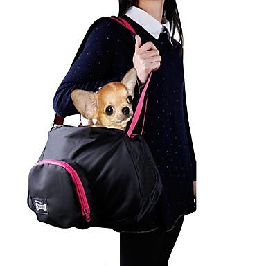 Gato / Cachorro Tranportadoras e Malas / Bolsa de Ombro Animais de Estimação Transportadores Portátil Sólido Preto / Cinzento