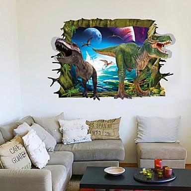 Landschaft Tiere 3D Wand-Sticker Flugzeug-Wand Sticker 3D Wand Sticker Dekorative Wand Sticker, PVC Haus Dekoration Wandtattoo Wand