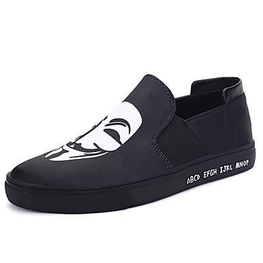 Miesten kengät Canvas Talvi Syksy Comfort Tasapohjakengät Solmittavat varten Kausaliteetti Musta Sininen Musta/valkoinen Kultainen