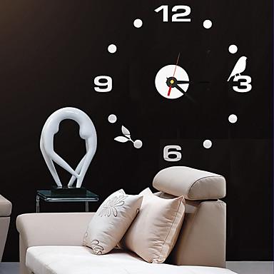 Moderne / Nutidig / Kontor / Bedrift Huse / Familie / Skole/Studentereksamen / Venner Wall Clock,Rund Akryl / Glass 40CM/15.7inch