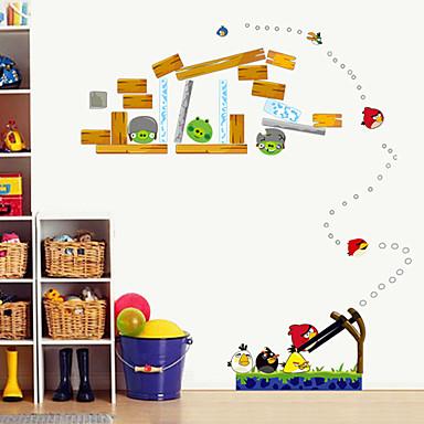 Mote Botanisk Tegneserie Veggklistremerker Fly vægklistermærker Dekorative Mur Klistermærker Hjem Dekor Veggoverføringsbilde Vegg