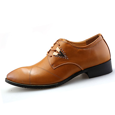 Oxford-kengät-Tasapohja-Miesten-PU-Musta Ruskea Valkoinen-Rento-Comfort
