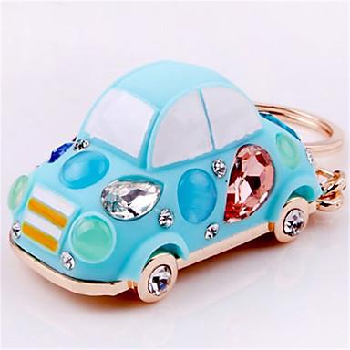 halpa Autoelektroniikka-sinkkiseos auton avain rengas kuoriainen Crystal auton avain rengas