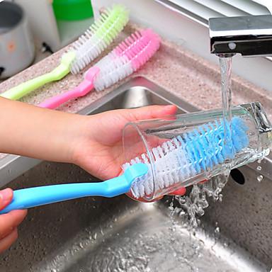Høy kvalitet 1pc Plast Rengjøringsbørste og klut Verktøy, Kjøkken Vaskemidler