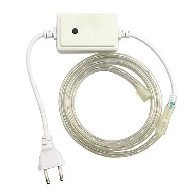 1pcs / 1m eu 220-240V LED RGB de luz cinto de lâmpada de 5050 banda controlador de jardim luz rgb à prova de água