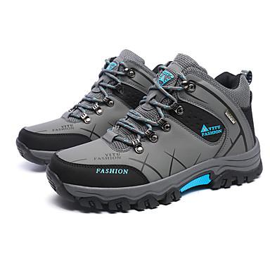 Herrn Schuhe PU Frühling Herbst Komfort Sneakers Wandern Schnürsenkel für Normal Grau Grün Khaki
