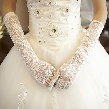 pitsien kyynärpää pituus käsine morsiamen käsineet klassinen naisellinen tyyli
