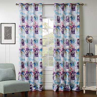 Eén paneel Window Behandeling Designer , Karakters Woonkamer Polyester Materiaal Curtains Drapes Huisdecoratie For Venster