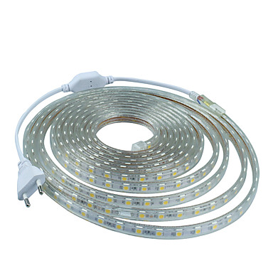 billige LED Strip Lamper-12m 720 LED 5050 SMD Varm hvit / Hvit / Blå Vanntett 220 V / IP65