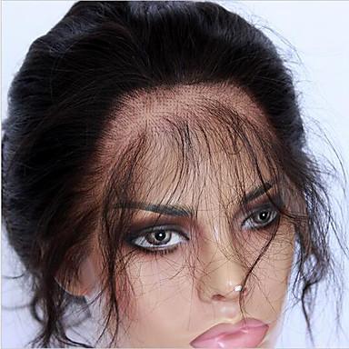 CARA 360 frontal Ondulado Grande Parte gratuito / Parte Medio / 3 Parte Malla francesa Cabello humano Con Baby Hair